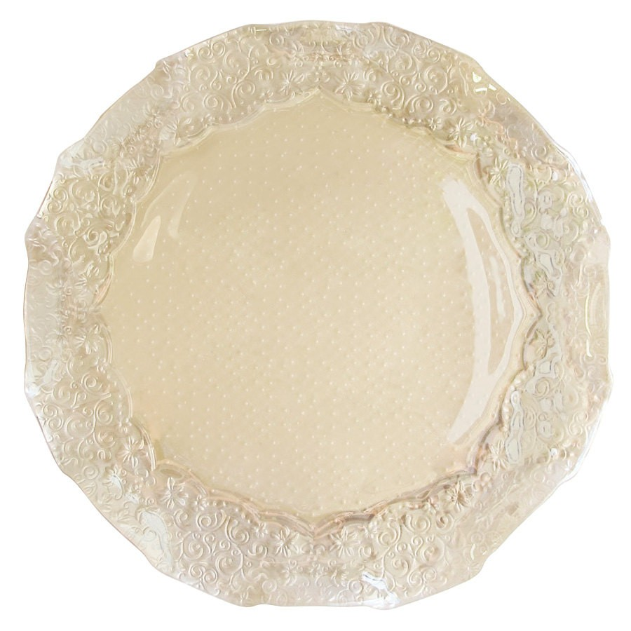 ChargeIt by Jay Roberta Iris Luster Pearl Glass Charger Plate 12.5""