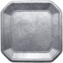 """ChargeIt by Jay Silver Ancient Square Charger Plate 13"""""""