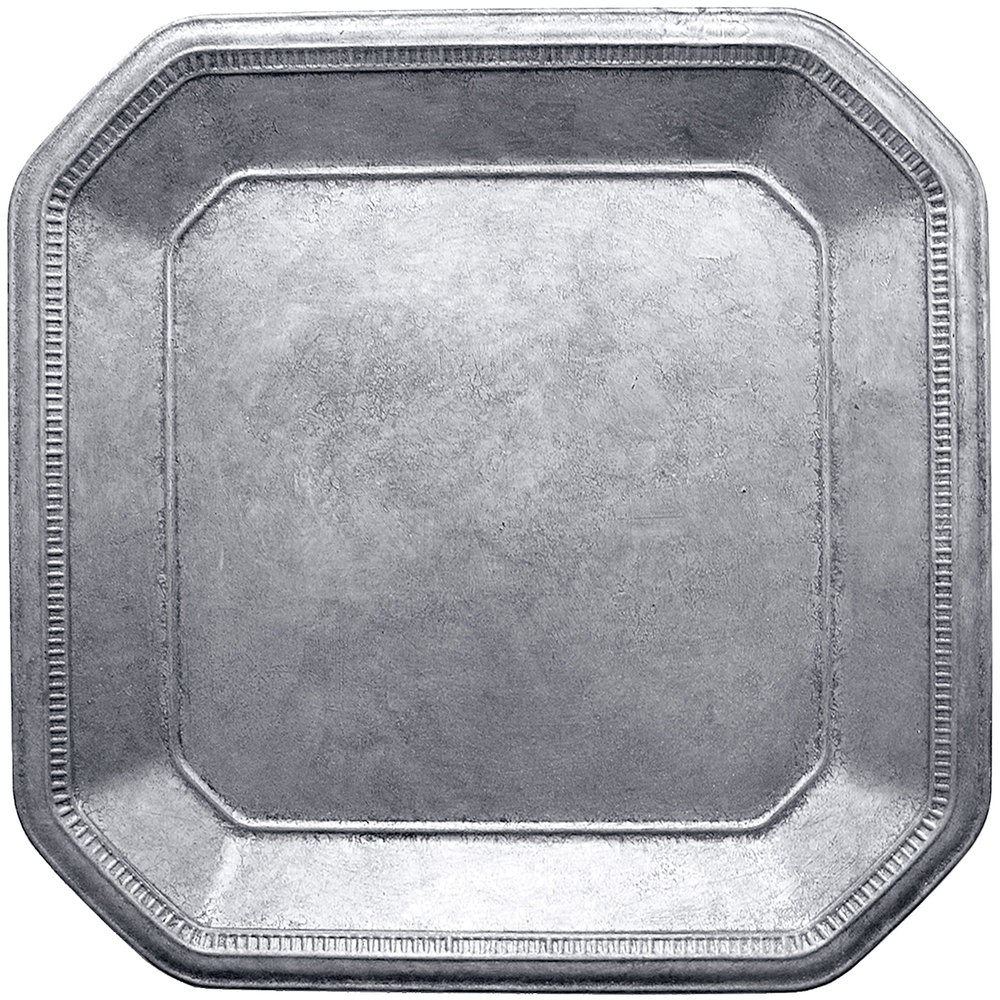 Jay Imports Silver Ancient Square Charger 13