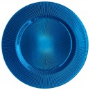 ChargeIt by Jay Sunray Cobalt Glass Charger Plate 13""