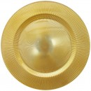 ChargeIt by Jay Sunray Gold Glass Charger Plate 13""