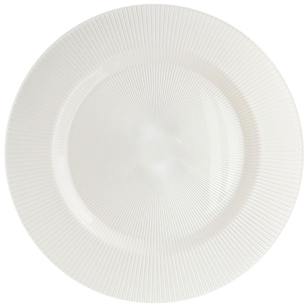 ChargeIt by Jay Sunray Pearl White Charger Plate 13""
