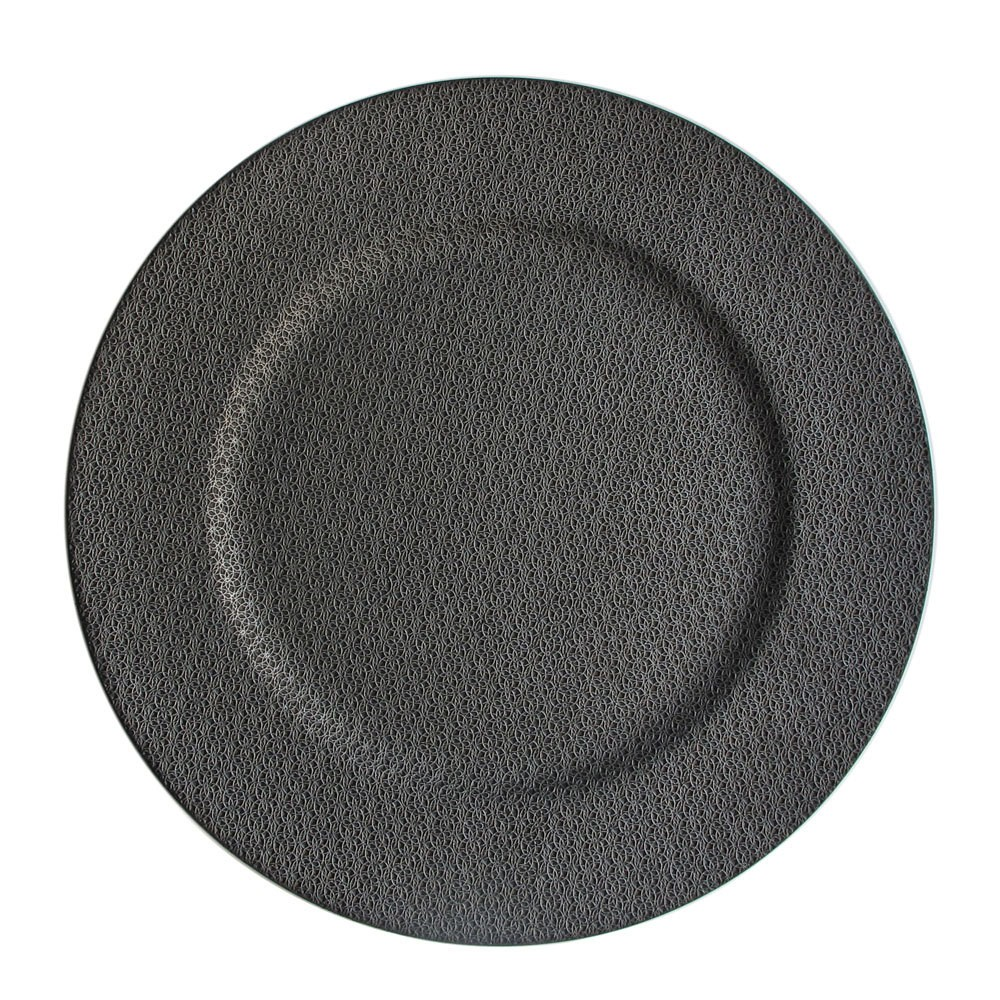 Jay Imports Textured Ash Gray Charger Plate 13
