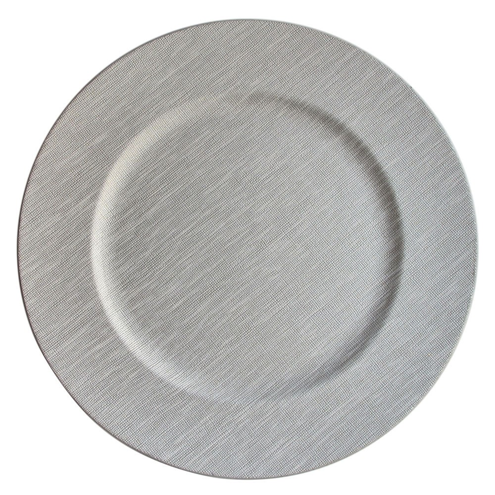 ChargeIt by Jay Textured Cool Gray Charger Plate 14""