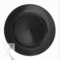 Lacquer Plain Black Charger Plate