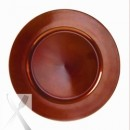 Ten Strawberry Street Lacquer Round Copper Charger Plate 13""