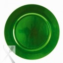 Lacquer Plain Green Charger Plate