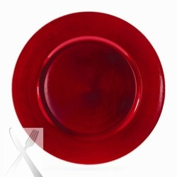 Lacquer Plain Red Charger Plate