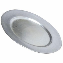Lacquer Plain Silver Charger Plate