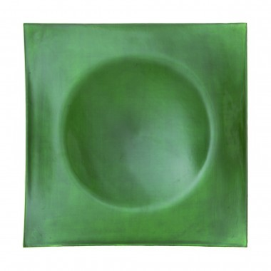 Lacquer Square Green Charger Plate