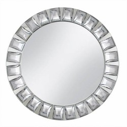 Large Gem Cut Mirror Charger Plate