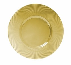 """ChargeIt by Jay Luster Amber Glass Charger Plate 13"""""""