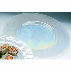 Luster Clear Glass Charger Plate