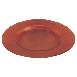 Metallic Copper Glass Charger Plate