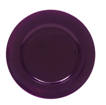 ChargeIt by Jay Round Metallic Purple Charger Plate 13""