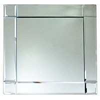 ChargeIt by Jay Mirror Square Deco Charger Plate 13""