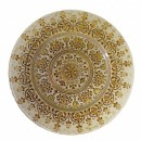 Ten Strawberry Street Monaco Beige/Gold Glass Charger Plate 13-1/4""