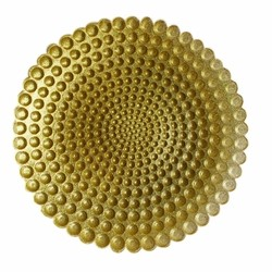 Pearl Glass Charger Plate-Gold