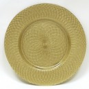 ChargeIt by Jay Gold Spiral Round Charger Plate 13""