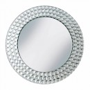 Pebble Beaded Mirror Round Charger Plate