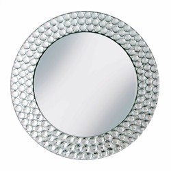 ChargeIt by Jay Pebble Beaded Mirror Round Charger Plate 13""