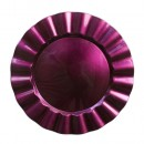 Purple Ruffled Lacquered Charger Plate