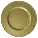 Reflex Gold Glass Charger Plate