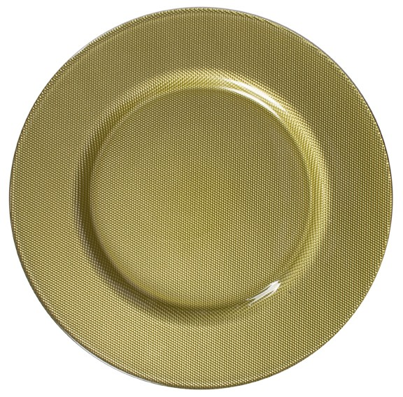 ChargeIt by Jay Reflex Gold Glass Charger Plate 13""