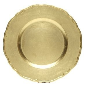 ChargeIt by Jay Round Gold Regency Charger Plate 13""