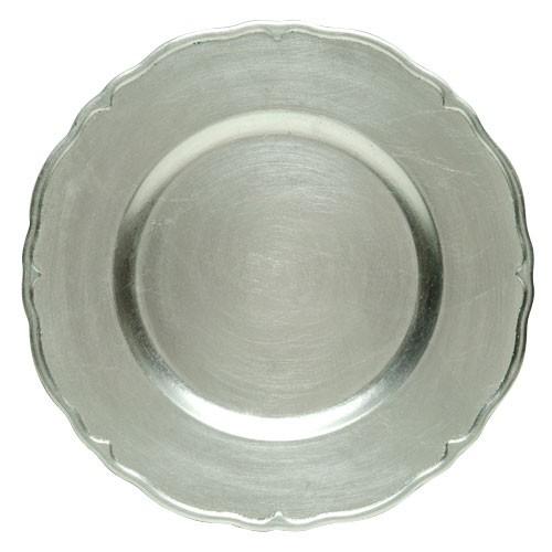 Regency Silver Melamine Charger Plate