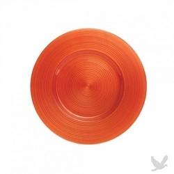Ripple Glass Charger Plates - Orange