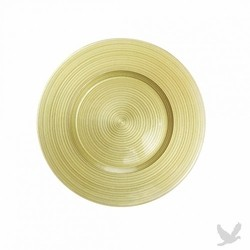 Ripple Glass Charger Plates - Lime Green