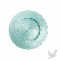 Ripple Glass Charger Plates - Diamond Blu