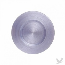 Ripple Glass Charger Plates - Lavender