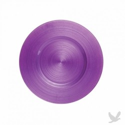 Ripple Glass Charger Plates - Plum