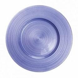 Ripple Glass Charger Plates - Royal Purple