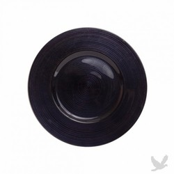 Ripple Glass Charger Plates - Black
