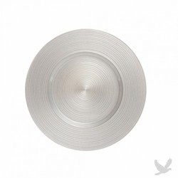 Ripple Glass Charger Plates - Silver