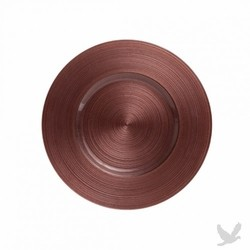 Ripple Glass Charger Plates- Brown