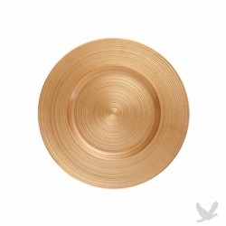 Ripple Glass Charger Plates- Gold