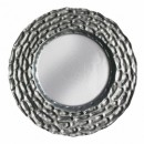ChargeIt by Jay Silver Roma Glass Charger Plate 12-3/4""