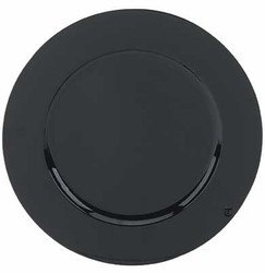 Round Acrylic Black Charger Plate