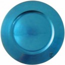Round Acrylic Blue Charger Plate