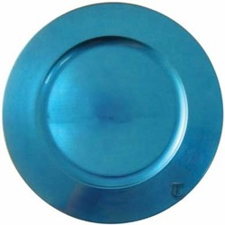 """Tabletop Classics Round Acrylic Blue Charger Plate 13"""""""