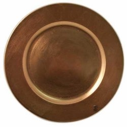 Round Acrylic Copper Charger Plate