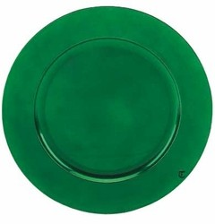 Round Acrylic Green Charger Plate