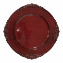 Royal Red Antique Acrylic Charger Plate