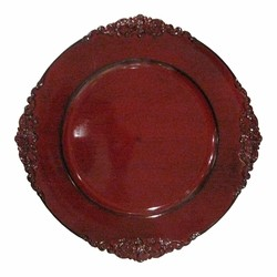 ChargeIt by Jay Royal Red Antique Charger Plate 13""
