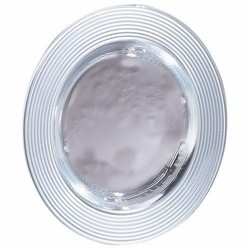 Saturn Silver Matte Glass Charger Plate