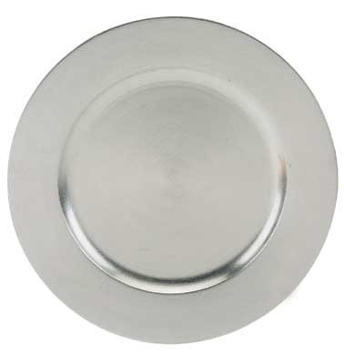 ChargeIt by Jay Silver Round Acrylic Charger Plate 13""